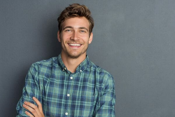 Brown Haired Man Smiling